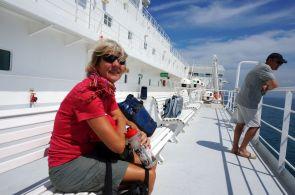 Italienische Luxusfähre von Colon nach Cartagena